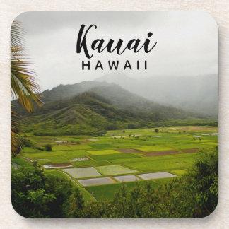 Dessous-de-verre Photographie de paysage de Kauai Hawaï