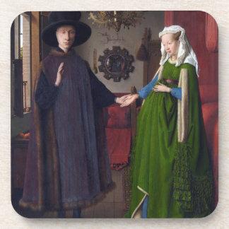 Dessous-de-verre Portrait 1434 de JANV. VAN EYCK- Arnolfini