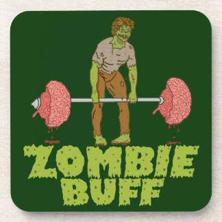 Dessous-de-verre Poussoir de poids drôle de cuir épais de zombi