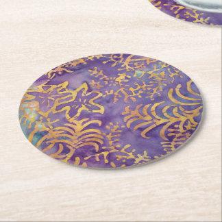 Dessous-de-verre Rond En Papier Batik d'hiver