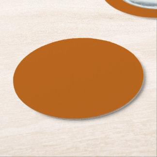 Dessous-de-verre Rond En Papier Couleur solide d'épice de citrouille