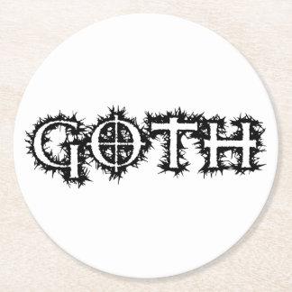 Dessous-de-verre Rond En Papier Goth