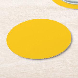 Dessous-de-verre Rond En Papier Personnaliser ambre de couleur solide il