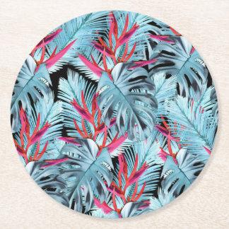 Dessous-de-verre Rond En Papier Plantes tropicales 1. l