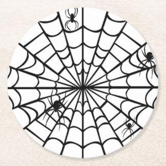 Dessous-de-verre Rond En Papier Toile d'araignée déplaisante