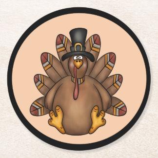 Dessous-de-verre Rond En Papier Vacances de Tom Turquie de thanksgiving