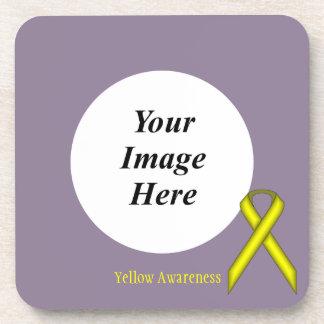 Dessous-de-verre Ruban standard jaune par Kenneth Yoncich