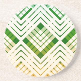 Dessous de verre Tartan revisté - Vert et jaune