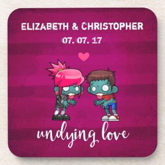 Dessous-de-verre Un mariage impérissable d'amour de couples mignons