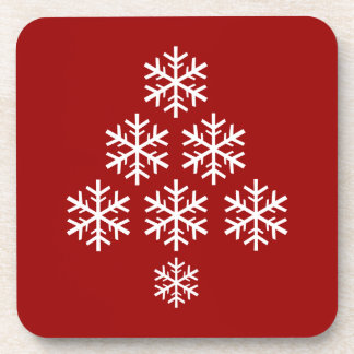 Dessous-de-verre Vacances de ~ d'arbre de Noël de flocon de neige