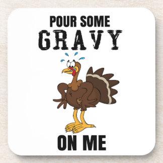 Dessous-de-verre Versez de la sauce au jus sur moi thanksgiving
