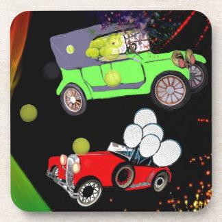Dessous-de-verre Vieille abondance de voiture de mode des balles de