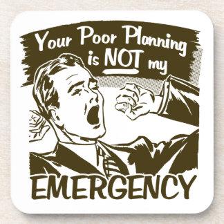Dessous-de-verre Votre planification pauvre
