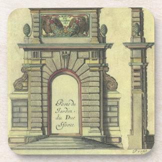 Dessous-de-verre Voûte vintage de porte de jardin, architecture de