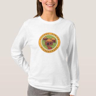 Dessus à capuchon de l'Afrique de village T-shirt