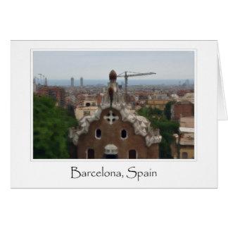 Destination de touriste de Barcelone Espagne Parc Carte