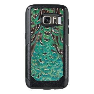 Détail de plume de faisan de turquoise coque OtterBox samsung galaxy s7