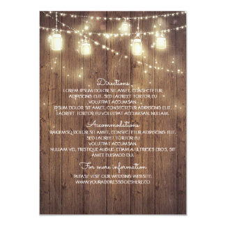 Détails rustiques de mariage campagnard - carton d'invitation  11,43 cm x 15,87 cm