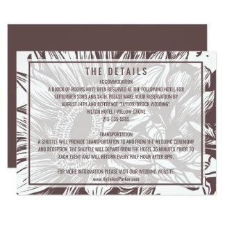 Détails rustiques de mariage de tournesol carton d'invitation 8,89 cm x 12,70 cm