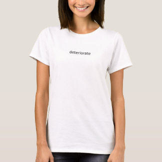 Détériorez le T-shirt de base des femmes de mot