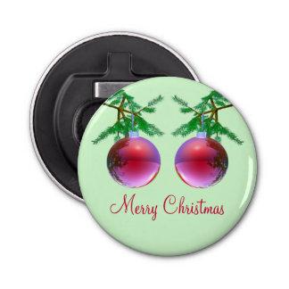 Deux boules rouges de Joyeux Noël Décapsuleur