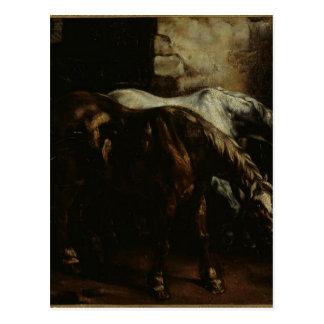 Deux courrier-chevaux par Theodore Gericault Carte Postale