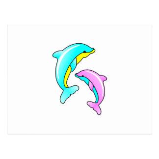 Deux dauphins cartes postales