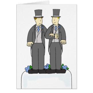 Deux félicitations de mariage homosexuel de mariés carte de vœux