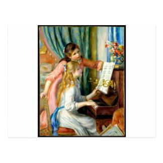 Deux filles au piano - Pierre Auguste Renoir Carte Postale