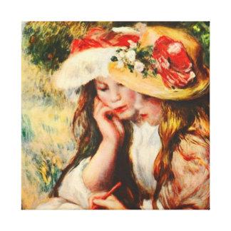 Deux filles lisant en beaux-arts de Renoir de Toiles