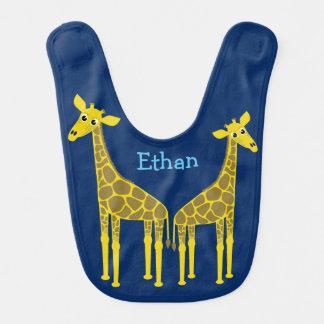 Deux girafes et un éléphant bavoirs pour bébé