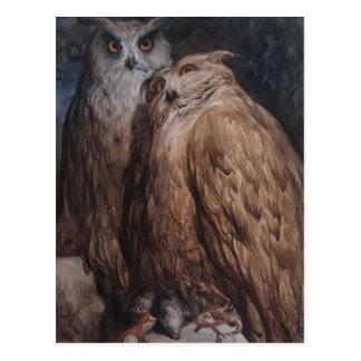 Deux hiboux par Gustave Dore Carte Postale