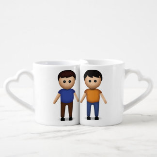 Deux hommes tenant des mains Emoji Mug