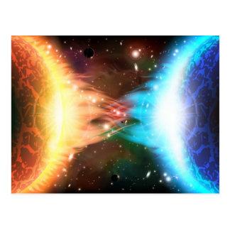 Deux planètes brûlantes carte postale