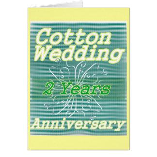 Deuxième coton de ~ d'anniversaire de mariage carte de vœux