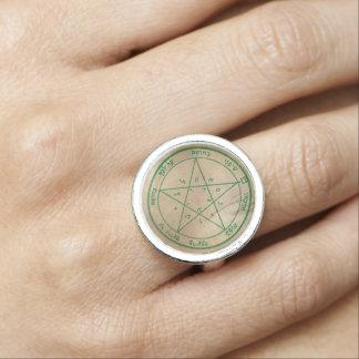 Deuxième pentagramme de Vénus Bagues Avec Photo