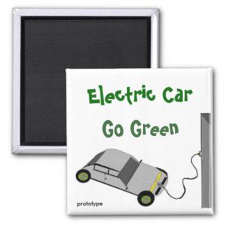 Devenez écolo de voiture électrique magnet carré