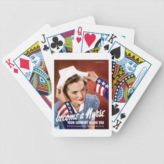 Deviennent une infirmière jeux de cartes