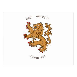 Devises et héraldique latines carte postale