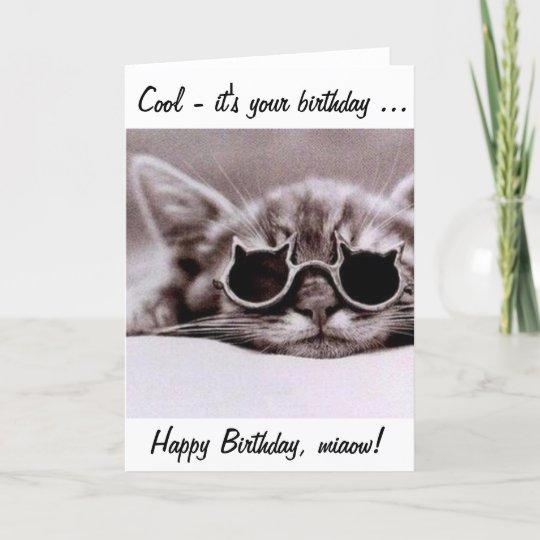Deze Koele Kat Wenst U Een Gelukkige Verjaardag Kaart Zazzle Be