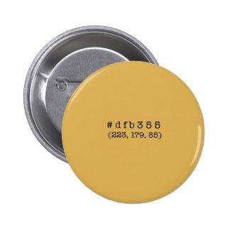 #dfb355 de Knoop van de cirkel Ronde Button 5,7 Cm