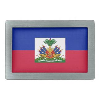 d'Haïti de Drapeau - drapeau du Haïti Boucles De Ceinture Rectangulaires