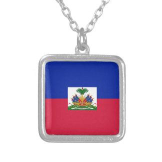 d'Haïti van Drapeau - Vlag van Haïti Zilver Vergulden Ketting