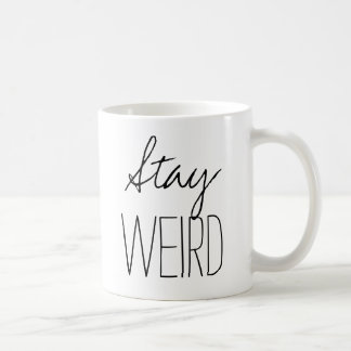 D'humour inspiré étrange de hippie de tendance de mug blanc