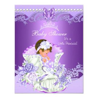 Diadème pourpre Vint de petite fille de princesse Carton D'invitation 10,79 Cm X 13,97 Cm