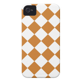 Diag Checkered - blanc et ocre Coques iPhone 4