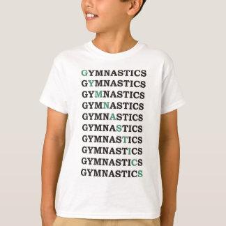 Diagonale Gymnastiek T Shirt