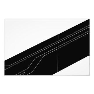 Diagonales en noir et blanc impression photo