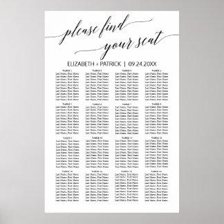 Diagramme blanc et noir élégant d'allocation des poster