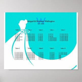 Diagramme d'allocation des places de mariage de la